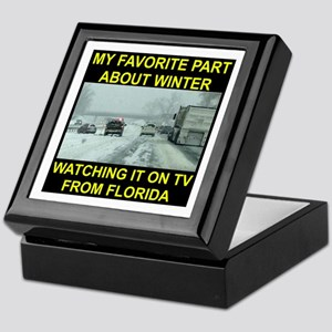 Watching It On TV In FLA Keepsake Box