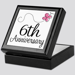 6th Anniversary Gift Butterfly Keepsake Box