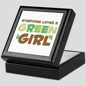 Loves A Green Girl Keepsake Box