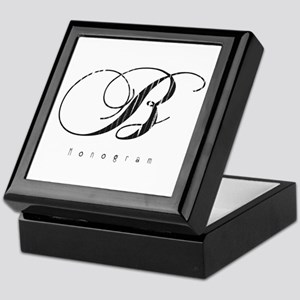 Letter B Monogram Keepsake Box