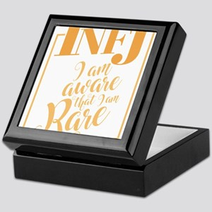 INFJ Aware That I Am Rare design Funn Keepsake Box