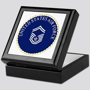 USAFSeniorMasterSergeantCapCrest Keepsake Box