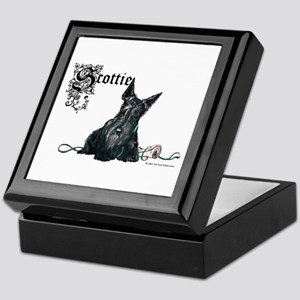 Celtic Scottish Terrier Keepsake Box