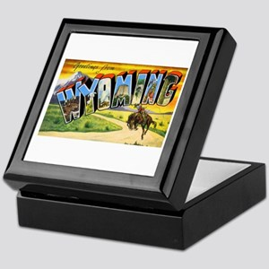 Wyoming Greetings Keepsake Box