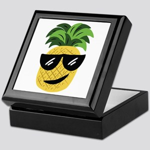 Funky Pineapple Keepsake Box
