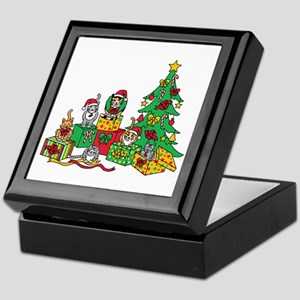 Christmas Cats Keepsake Box