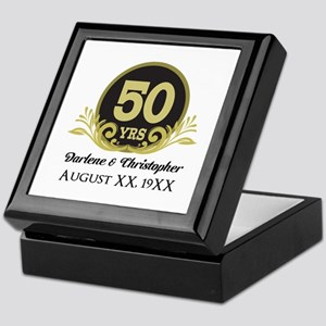 50th Anniversary Personalized Keepsake Box