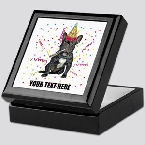 Custom French Bulldog Birthday Keepsake Box
