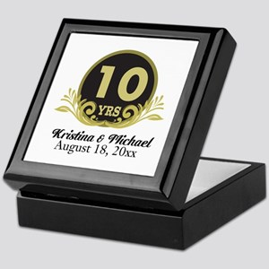 10th Anniversary Personalized gift idea Keepsake B