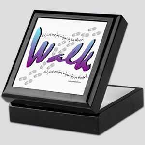 Walk - Just one foot Keepsake Box
