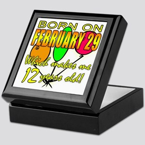 Leap Year Birthday 48 Yrs Keepsake Box