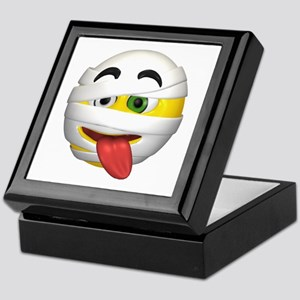 Goofy Mummy Licking Face Keepsake Box