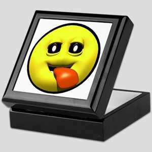Window Licker Face Keepsake Box