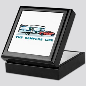 The campers life Keepsake Box