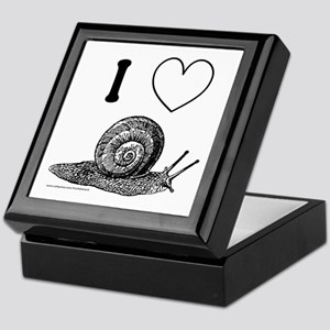 I HEART SNAILS Keepsake Box