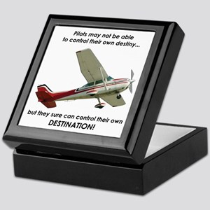 Pilots control their own destination Keepsake Box