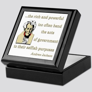 Andrew Jackson on the rich and powerful Keepsake B