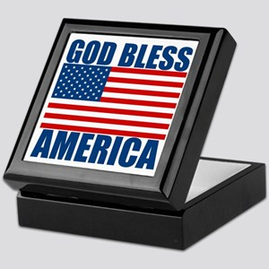 God Bless America Keepsake Box