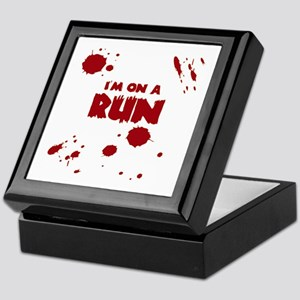 I'm on a run Keepsake Box