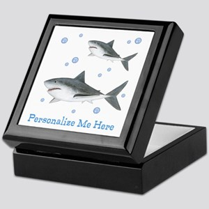 Personalized Shark Keepsake Box