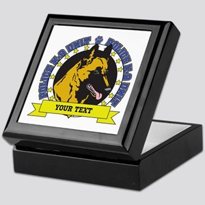 Personalized K9 Unit Belgian Malinois Keepsake Box