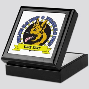 Personalized K9 German Shepherd Keepsake Box