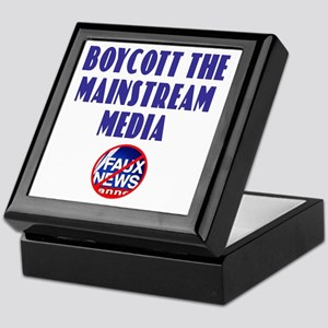 Boycott Mainstream Media Keepsake Box