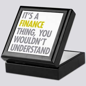 Its A Finance Thing Keepsake Box