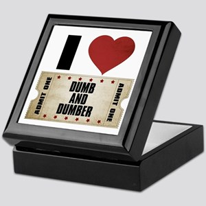 I Heart Dumb and Dumber Ticket Keepsake Box