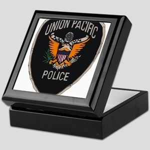 Union Pacific Police patch Keepsake Box