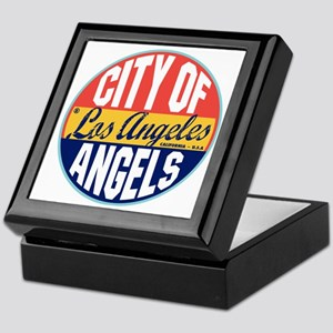 Los Angeles Vintage Label W Keepsake Box