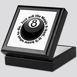 magic-8-ball-black-tshirt-front Keepsake Box