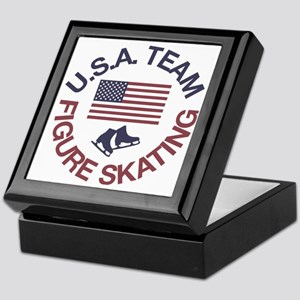 U.S.A. Team Figure Skating Keepsake Box