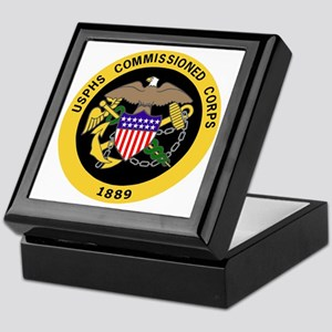 USPHS-Commissioned-Corps-Gold-3 Keepsake Box