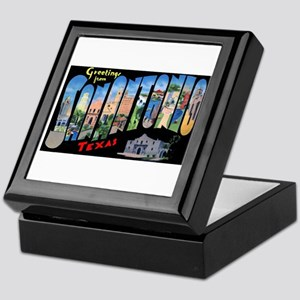San Antonio Texas Greetings Keepsake Box