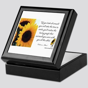 Sunflower Quote Keepsake Box