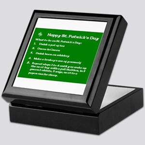 What to do on St. Patricks Day Keepsake Box