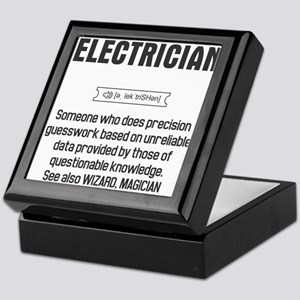 Funny Electrician Definition Keepsake Box