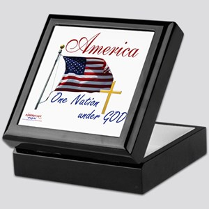 America One Nation Under God Keepsake Box