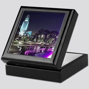 View of Grand Park at night Keepsake Box