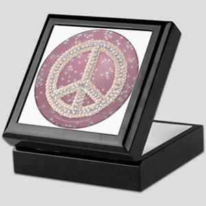 Diamond Peace Sign Keepsake Box