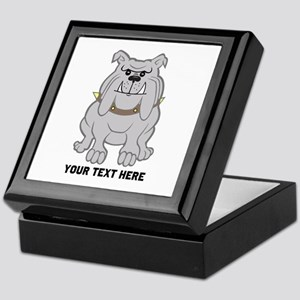 Bulldog personalized Keepsake Box