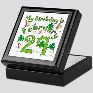 Leap Year Birthday Feb. 29th Keepsake Box