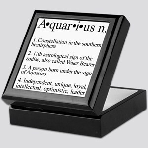 Astrology Zodiac Aquarius Keepsake Box
