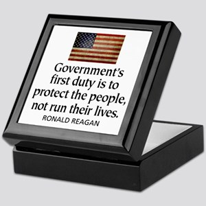 REAGAN: Government's first duty... QUOTE Keepsake