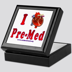 I Love Pre-Med Keepsake Box