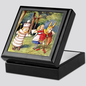 White King and March Hare Keepsake Box