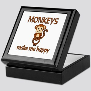 Monkey Happy Keepsake Box