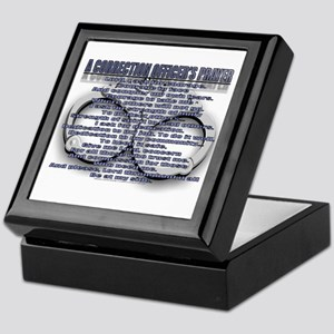 CORRECTION'S OFFICER PRAYER Keepsake Box