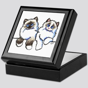 Ragdolls Pair Off-Leash Art™ Keepsake Box